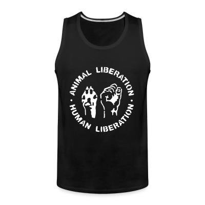 Tank top Animal liberation - human liberation