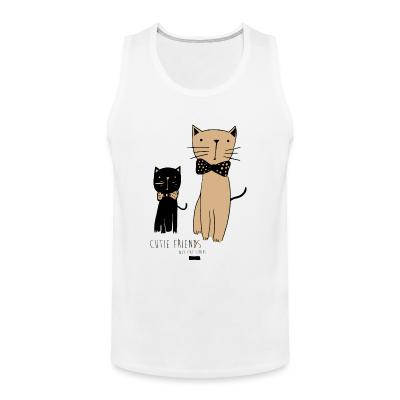 Tank top Cutie friends nyc cat series