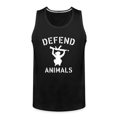 Tank top Defend animals