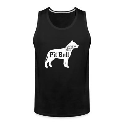 Tank top Faithful smart bold pitbull
