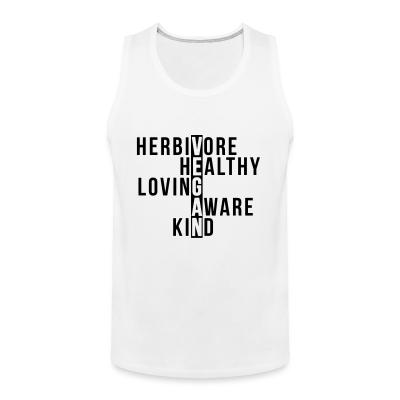 Tank top Herbivore healthy loving aware kind vegan