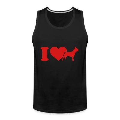 Tank top I love French Bulldog