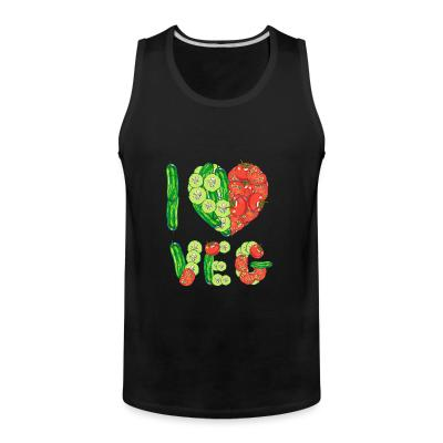 Tank top I love veg