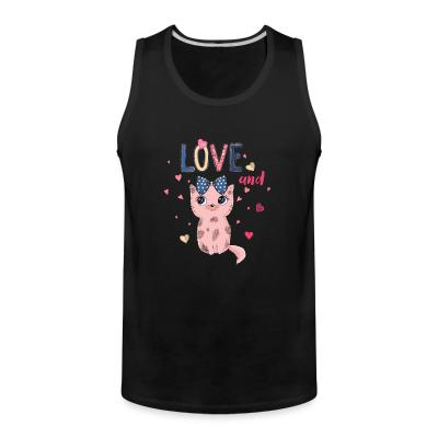 Tank top Love and cat