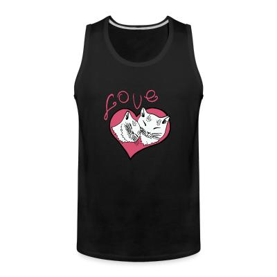 Tank top Love cat