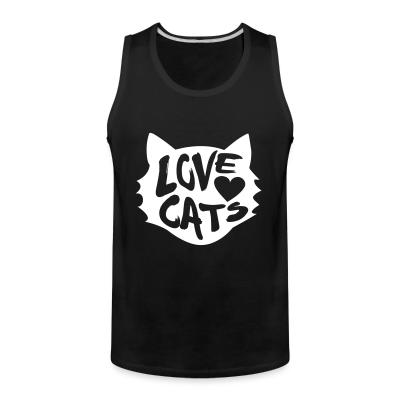 Tank top Love cats