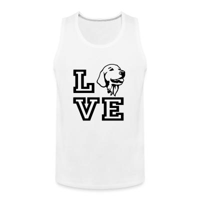 Tank top love Golden Retriever