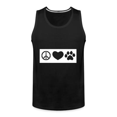 Tank top Love heart paws