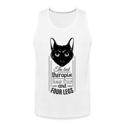 Tank top The best therapist has fur and four legs