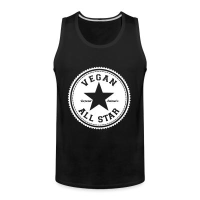 Tank top Vegan all star. Defend animals
