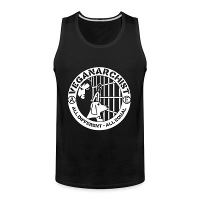 Tank top Veganarchist - all different, all equal