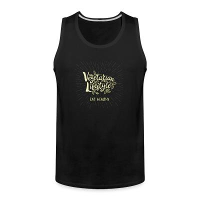 Tank top vegetarian lifstyle eat healthy