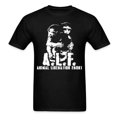 T-shirt A.L.F Animal Liberation Front