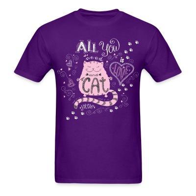 T-shirt all you cat meow