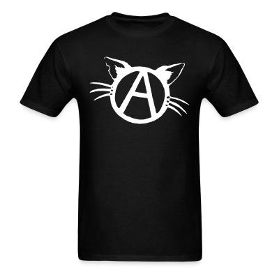 T-shirt Anarchy cat
