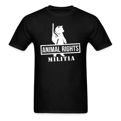 T-shirt Animal rights militia
