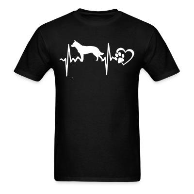 T-shirt Australian Cattle Dog heartbeat