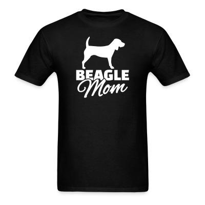 T-shirt Beagle mom