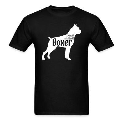 T-shirt BRIGHT PLAYFUL ENERGETIC BOXER