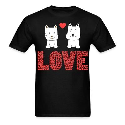 T-shirt Cat and Dog