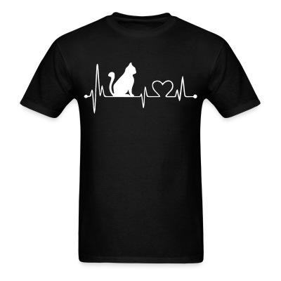 T-shirt Cat heartbeat