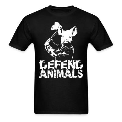 T-shirt Defend animals