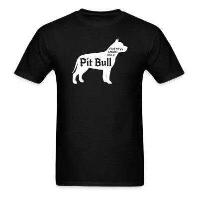 T-shirt Faithful smart bold pitbull