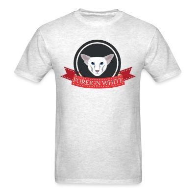 T-shirt Foreign white