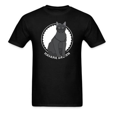 T-shirt Havana Brown Cat