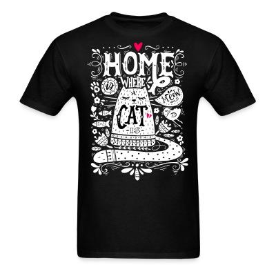 T-shirt home where cat is