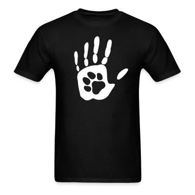 T-shirt Human hand & animal paw