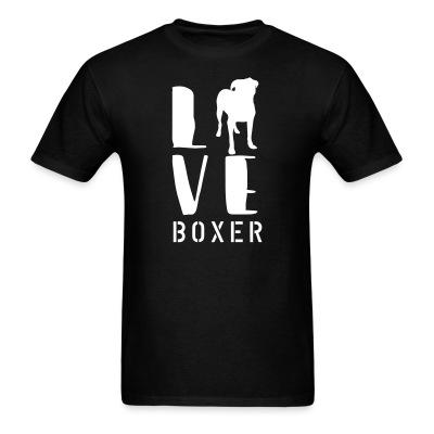 i love boxer dog