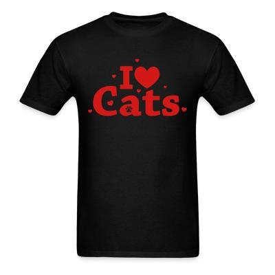 T-shirt I love cats