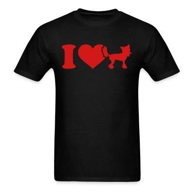 T-shirt I love Chinese Crested