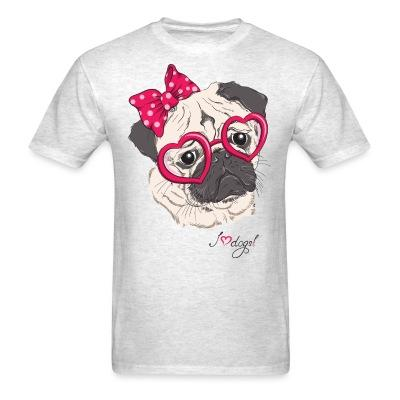 T-shirt I love dog