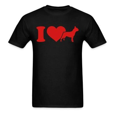 T-shirt I love French Bulldog