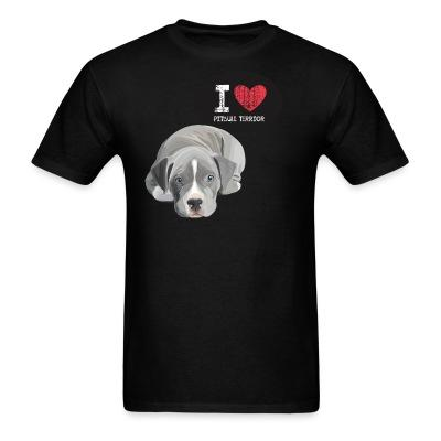 T-shirt I love pitbull terrior