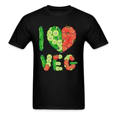 T-shirt I love veg