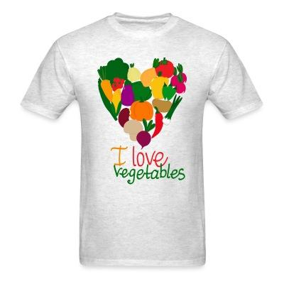 T-shirt I love vegetables