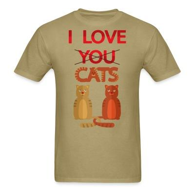 T-shirt I love you cats
