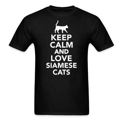 T-shirt Keep calm and love siamese cats