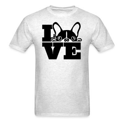 T-shirt Love Boston Terrier