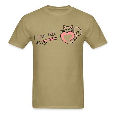 T-shirt Love cat
