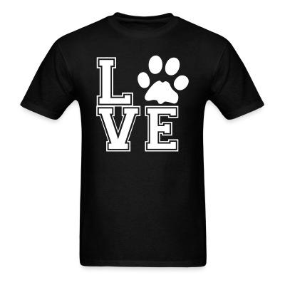 T-shirt love paw
