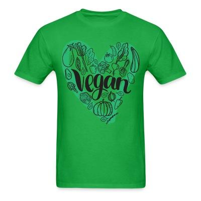 T-shirt Love Vegan