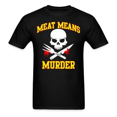 T-shirt Meat means murder