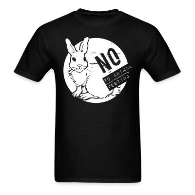 T-shirt No to animal testing
