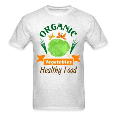 T-shirt oganic vegetables healty food