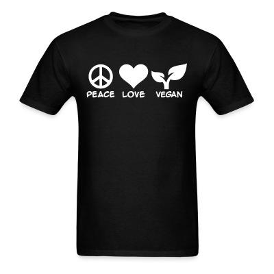T-shirt peace love Vegan