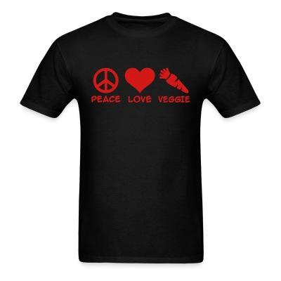 T-shirt Peace love veggie